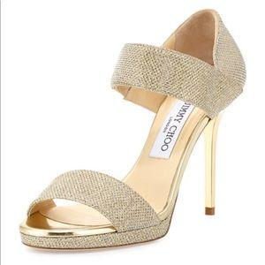 New Glitter Platform Alana Double Band Sandals